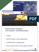 BLEVE Risico Reduktion LPG Strassen- Und Bahntransport