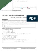 TS - Cours - Lois de Probabilités à Densité - Maths