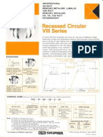 Sylvania Recessed Circular VIII Series Spec Sheet 1-78