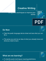 Creative Writing Year 9