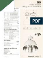 Sylvania RR Round Recessed Ceiling HID Spec Sheet 5-81