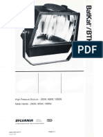 Sylvania BatKat HID Floodlight Series Spec Sheet 1-87