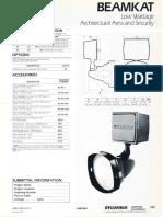 Sylvania BeamKat Low Wattage HID Floodlight Spec Sheet 1-87