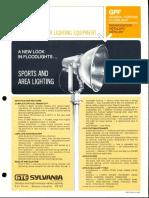 Sylvania GPF General Purpose Floodlight Spec Sheet 4-71