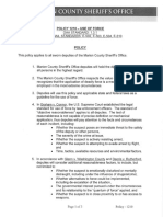 Marion County Sheriff's Office Use of Force Policy