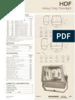 Sylvania HDF Heavy Duty HID Floodlight Spec Sheet 5-80