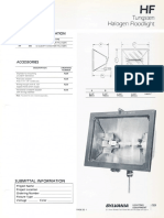 Sylvania HF Tungsten Halogen Floodlight Spec Sheet 1-87