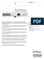 Epson EB 1760W Datasheet