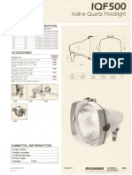 Sylvania IQF500 Floodlight Spec Sheet 4-83
