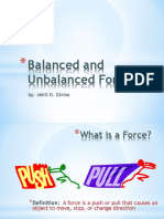 Jeriel Divino Balanced and Unbalanced Forces