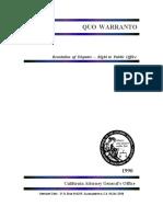 Quo Warranto Guidelines