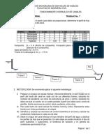 Trabajo No. 7Proyecto Final Funcionamiento Hidraulico de Canales Mayo 2018
