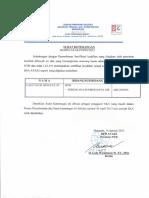Surat Keterangan Proses SKA