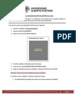 Manual Renovacion de Matricula 2018