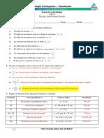 Guía 1, Álgebra Pauta