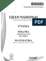 UN Matematika IPA 2017 Bimbingan Alumni UI