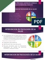 Intervencion en Psicología de La Salud