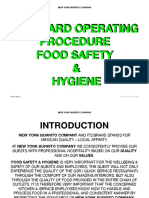 Sop Food Safety and Hygeine Vr PDF
