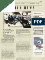off white vintage newspaper style newsletter