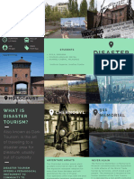 Gray and Green Travel Corporate Trifold Brochure