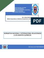 Normativa Nacional e Internacional en Toxicología Laboral Final