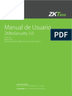 ZKBioSecurity 3-0 Manual de Usuario