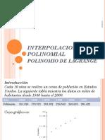 Interpolacion Polinomial Lagrange