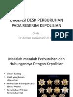 Urgensi Desk Perburuhan Pada Reskrim Kepolisian