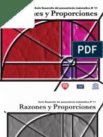 Serie Desarrollo Del Pensamiento Matem. 11.  Razones y Proporciones