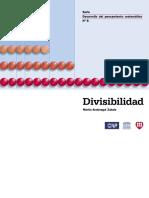 Serie Desarrollo Del Pensamiento Matem. 8.  Divisibilidad