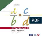 Serie Desarrollo Del Pensamiento Matem. 10.  Fracciones II Orden y Opertaciones
