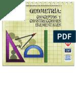 Serie Desarrollo Del Pensamiento Matem. 12.  Geometrida Conceptos y Construcciones Elementales