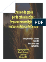 PP-Emision de Gases Por La Cana de Azucar-propuesta Metodologica Para Realizar Un Balance de Carbono-2009