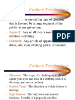 Clothing Business - Fashion Terminology