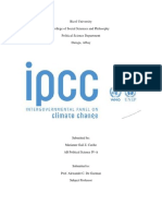 Intergovernmental Panel for Climate Change
