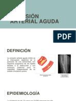 Oclusión Arterial Aguda