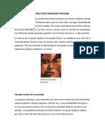 MULTICULTURALIDAD PERUANA