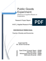 Public Goods Experiment