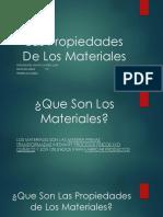 1.0 Las Propiedades de Los Materiales Powerpoint