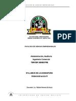 Syllabus Administracion II Gestión i - 2015