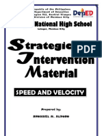 Strategic Intervention Material - Speed and Velocity