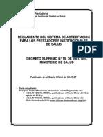 Reglamento Sistema Acreditación