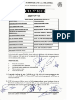 Acta 5/2018 Comité de Seguridad y Salud Laboral Tragsa UT 2 CV