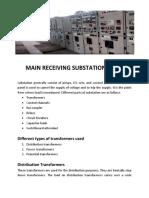MRS (Main Receiving Substation)