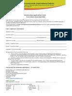 Scholarship Application Form Prem ASEAN Scholarship 2018 1