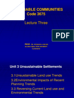 Sustainable Communities Lecture Three