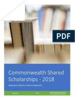 Commonwealth Shared Scholarships 2018 - Application Guide for Pakistani Applicants