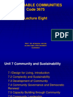 Sustainable Communities Lecture Eight