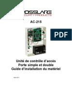 AC-215 Installation Manual - 060311 - French