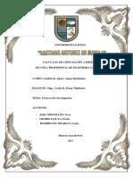 Analisis de Aguas Proyecto de Investigacion